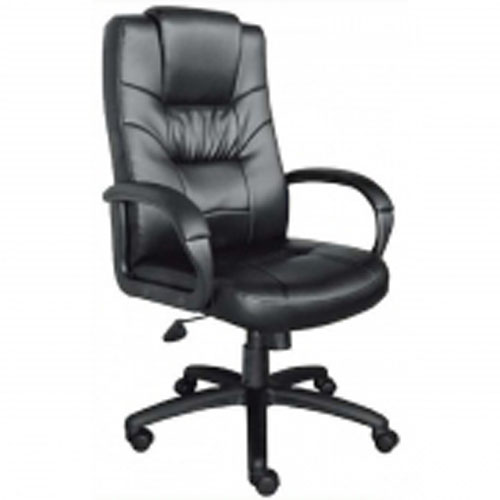 High Back Black Leather Executive Office Chair Riverside