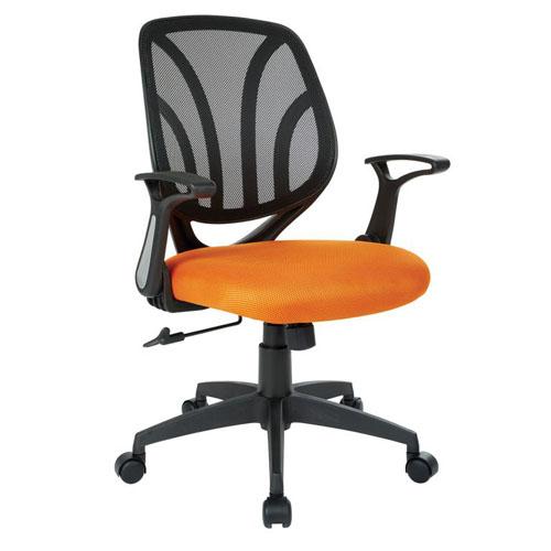 Work Smart Black & Orange Mesh Back Task Chair