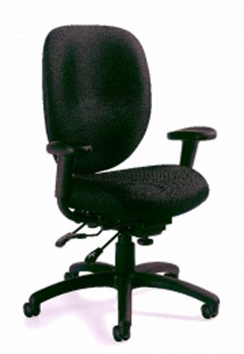 Global Black Fabric Finish Multifunction Task Chair