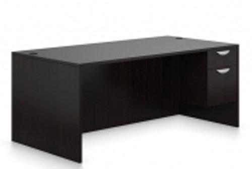 """New Global OTG 66"""" Laminated Hanging Pedestal Desk"""