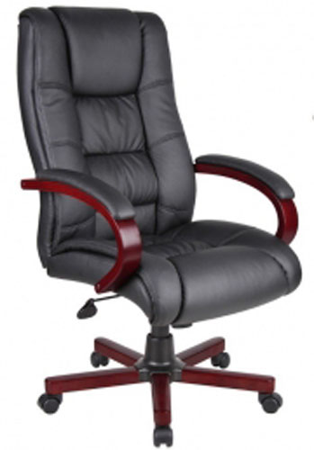 Wood Finished Boss High Back Executive Chairs OC