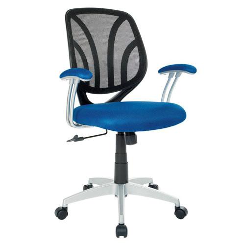 OSP Navy Blue Work Smart Mesh Back Task Chair OC
