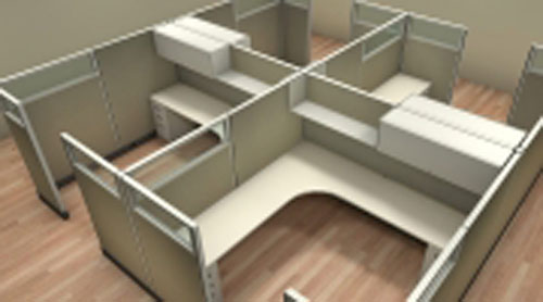 New Friant Cubicles with Overheads/Power Riverside