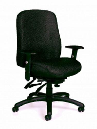 OTG Black Fabric New Multifunction Office Chair