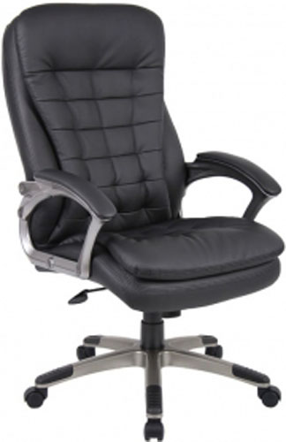 Boss High Back Executive Chair with Pewter Finish