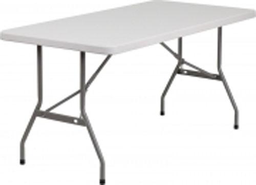 White Granite Plastic Bi-Folding Table RB-3060FH-GG