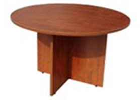 Laminated Round Conference Table in Cherry Riverside